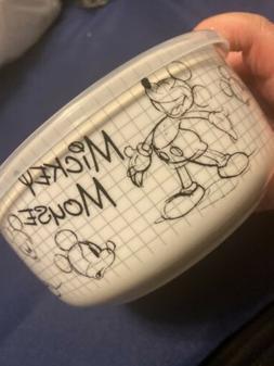 NEW Mickey Disney Sketchbook Ceramic Covered Bowl Medium