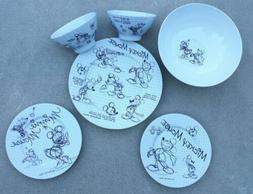 New Disney Sketchbook 13 Piece Mickie & Minnie Mouse Dinnerw