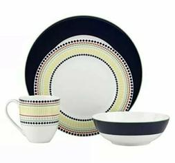 Kate Spade New York Hopscotch Drive Navy Dinnerware 4-Piece