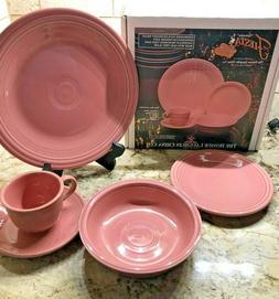 NIB Retired Rose Fiesta Dinnerware 5 Piece Place Setting or
