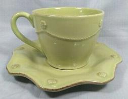 NWT ~ Juliska Berry & Thread Pistachio Green Grand Cup & Sau