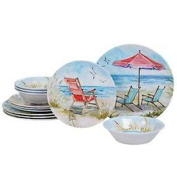 Certified International Ocean View 12-piece Dinnerware Set B
