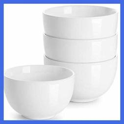 Porcelain Bowls 30 Oz Bowl For Cereal Soup Ramen Rice Set Of