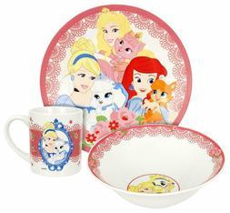 Disney Princess Palace Pets 3 Piece Ceramic Dinnerware Set P