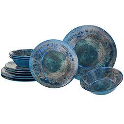 radiance teal melamine dinnerware set