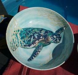 "Sea Turtle Bowl 8.5"" Better Homes Melamine Sealife Beach Din"