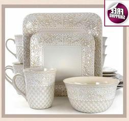 set dinnerware 16 pcs dishes plate mug