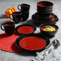 Set Dinnerware 16 Pcs Dishes Plate Mug Service Modern Vintag