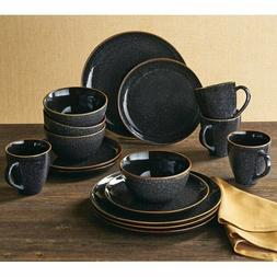 Set Dinnerware 16piece Dishes Plate Mug Vintage Classic Mode