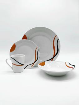 Set of 16 Premium Dinner Plates, Bowls and Cups Dinnerware P