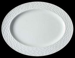 "Set of 2 LENOX  Donna Karan DEVORE White Dinnerware 16"" Oval"