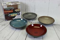 Mikasa Set of 4 Pasta Bowls Stoneware Sapphire