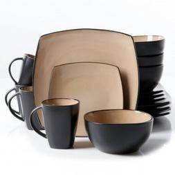 Soho Lounge 16 pc Dinnerware, Taupe Square Shape