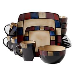 Gibson Soho Lounge Mosaic 16-Piece Dinnerware Set