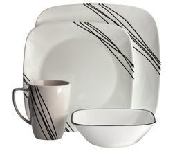 Corelle® Square™ 16pc Dinnerware Set Simple Sketch