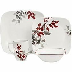 Square Dinnerware Sets Kyoto Leaves 16-pc