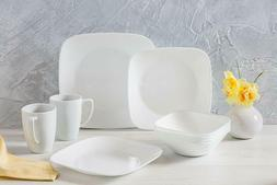 Corelle Square Pure White 16-Piece Dinnerware Set