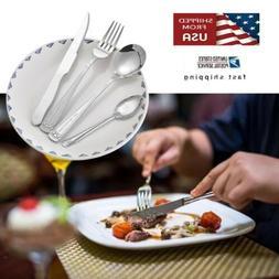 Stainless Steel 8 Pcs Dinnerware Set Dinner Knife Fork Spoon