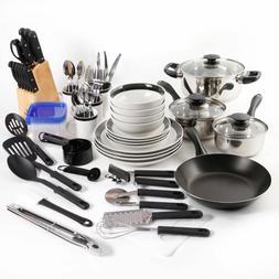 25-Piece Essential Stainless Steel Mega Cookware Set Pots An