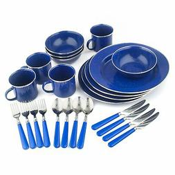 Stainless Steel Metal Enamel Camping Camp Dishes Dish Dinner