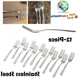 Stainless Steel Salad Fork Set Home Restaurant Catering Flat