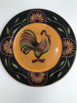 "Susan Winget Proud Rooster 11-1/4"" Plate Platter Certified I"