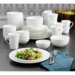 swirl 40 piece bone china dinnerware set