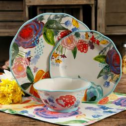 The Pioneer Woman Celia 12-Piece Dinnerware Set, Linen *FREE