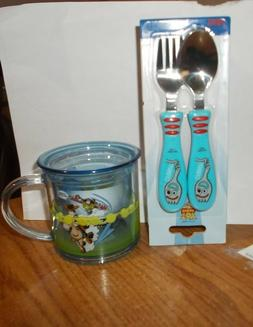 DISNEY TOY STORY CHILD DINNERWARE SET CUP, FORK AND SPOON FO