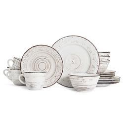 Pfaltzgraff Trellis White Stoneware 16 Piece Dinnerware Set