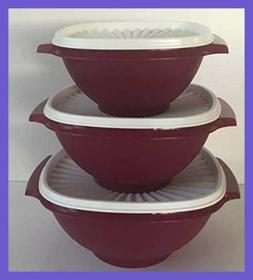 Tupperware Servalier Bowl Set 3 Bowls Colors FREE SHIPPING D