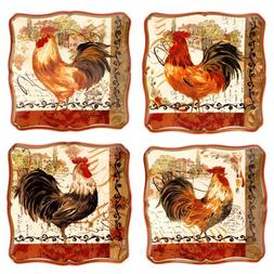 Certified International Tuscan Rooster Salad/Dessert Plate,