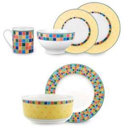 Villeroy & Boch Twist Alea Limone 18 Piece Set Dinnerware Ch