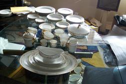 Vintage PMS  Bavaria Fine China Dinnerware Set 54 Pcs. Elega