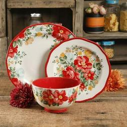 The Pioneer Woman Vintage Floral 12 Pc Dinnerware Set Servic