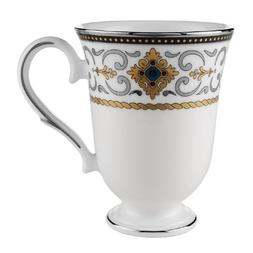 Lenox Vintage Jewel Platinum Banded Bone China Accent Mug
