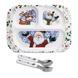 Pfaltzgraff Winterberry 3 Piece Jolly Santa Childrens Set