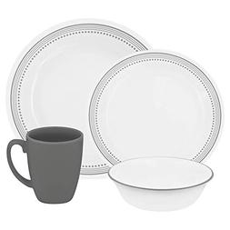 World Kitchen 1119398 16-Piece Dinnerware Set, Mystic Gray
